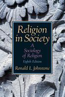 Religion in Society PDF