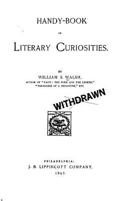 Handy book of Literary Curiosities PDF