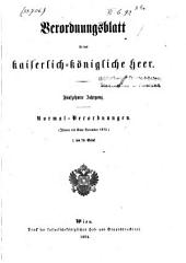 Verordnungsblatt für das k. u. k. Heer: Normal-Verodnungen, Band 15