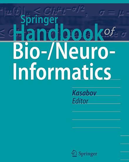 Springer Handbook of Bio  Neuro Informatics PDF
