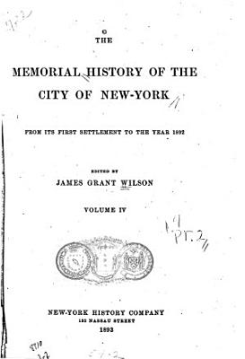 The Memorial History of the City of New York
