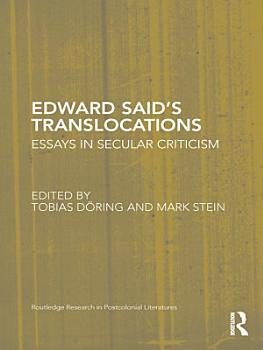 Edward Said s Translocations PDF