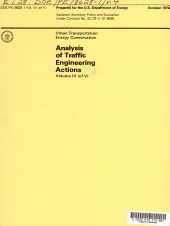 Analysis of traffic engineering actions
