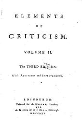 Elements of criticism: Volume I [-II]., Volume 2