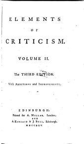 Elements of criticism: Volume I [-II]., Volume 2