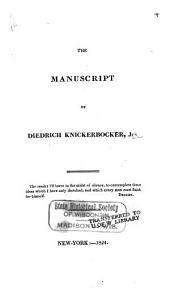 The manuscript of Diedrich Knickerbocker, Jun