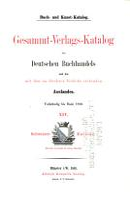 Buch  und kunst katalog  Schweiz  1881  Ausland  1886  2 v  in 1 PDF