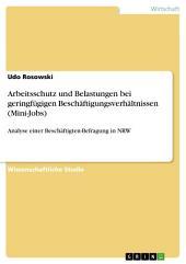 Arbeitsschutz und Belastungen bei geringfügigen Beschäftigungsverhältnissen (Mini-Jobs): Analyse einer Beschäftigten-Befragung in NRW