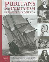 Puritans and Puritanism in Europe and America PDF