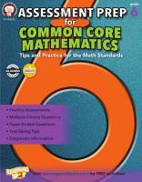 Assessment Prep for Common Core Mathematics  Grade 6 PDF
