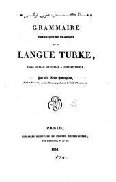 Grammaire théorique et pratique de la langue turke