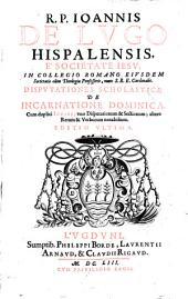 Disputationes scholasticae de incarnatione dominica