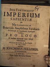 Imperium sapientiae seu metaphysicae