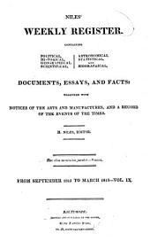Niles' Weekly Register: Volume 9