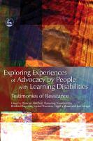 Exploring Experiences of Advocacy by People with Learning Disabilities PDF