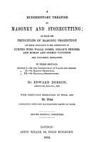 A Rudimentary Treatise on Masonry and Stone cutting PDF