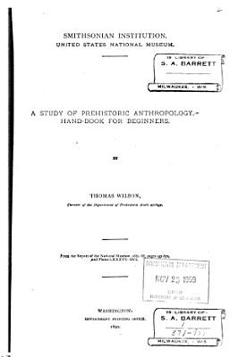 A Study of Prehistoric Anthropology PDF