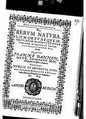 Disputatio Philosophica de rerum naturalium ortu atque interitu