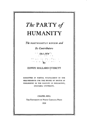 The Party of Humanity PDF