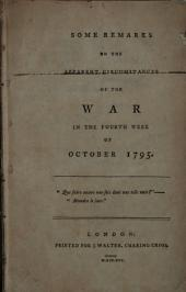 Some Remarks on the Apparent Circumstances of the War: In the Fourth Week of October 1795