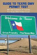 Guide To Texas DMV Permit Test