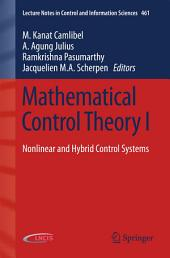 Mathematical Control Theory I: Nonlinear and Hybrid Control Systems