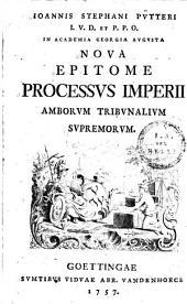 Nova epitome processus imperii ...