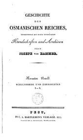 Geschichte des osmanischen Reiches: Grossentheils aus bisher unbenützten Handschriften und Archiven, Band 9
