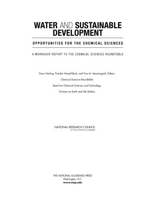 Water and Sustainable Development
