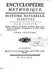 Encyclopédie méthodique: Insectes