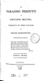Il Paradiso perduto, tr. da F. Mariottini
