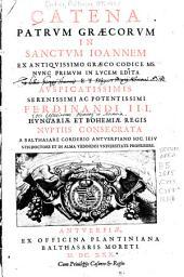 Catena Patrum Graecorum in Sanctum Ioannem