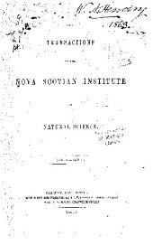 Proceedings of the Nova Scotian Institute of Science: Volumes 1-2