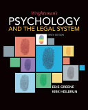 Wrightsman s Psychology and the Legal System Book