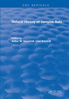 Natural History of Vampire Bats PDF