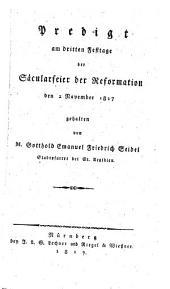Predigt am dritten Festtage der Säkularfeier der Reformation den 2. Nov. 1817