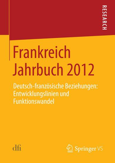 Frankreich Jahrbuch 2012 PDF