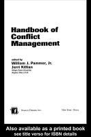 Handbook of Conflict Management PDF