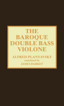 The Baroque Double Bass Violone