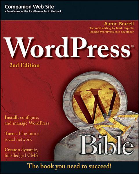 WordPress Bible Pdf Book