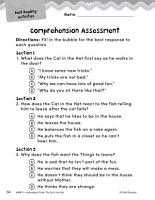 The Cat in the Hat Comprehension Assessment PDF