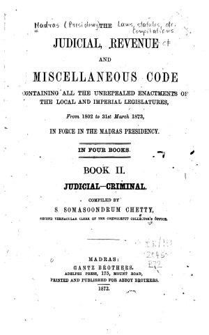 Judicial  Revenue and Miscellaneous Code