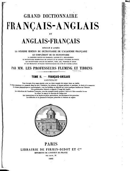 Download Grand Dictionnaire Francais anglais Et Anglais francais Book