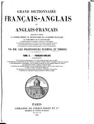 Grand Dictionnaire Francais anglais Et Anglais francais PDF
