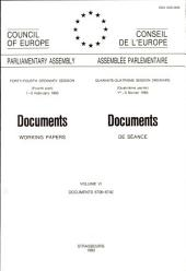 Documents (working Papers) 1993 = Documents de Séance 1993 ; Volume VI, Docs. 6706 - 6740.