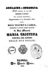 Adelaide di Borgogna ballo istorico in sei atti composto e diretto da Luigi Henry