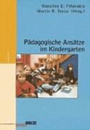 P  dagogische Ans  tze im Kindergarten PDF
