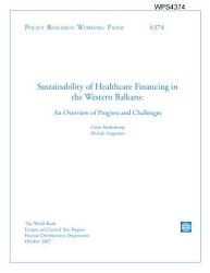 Sustainability of Healthcare Financing in the Western Balkans: an Overview Od Progress and Challeages