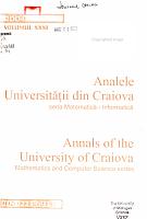 Analele Universit    ii Din Craiova PDF