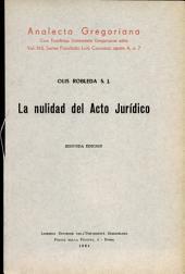 La nulidad del acto jurídico